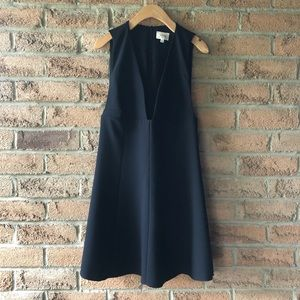 WILFRED   Black deep v summer mini cocktail dress